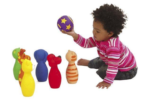 【魔法世界】美國 K's Kids 奇智奇思 Colorful Bowling Band 動物造型保齡球組