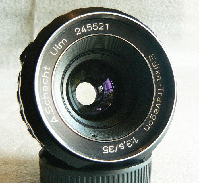 【悠悠山河】西德御三家 蕭特 A.Schacht Ulm 35mm F3.5 M42口 紅色景深錶尺 用料極佳 成像極優