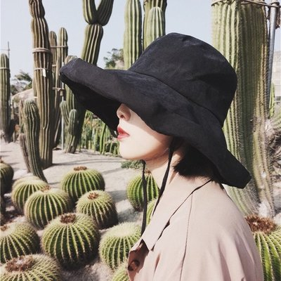 太陽帽女防紫外線帽子夏天大檐防曬百搭日繫遮陽漁夫帽山本風年貨清倉