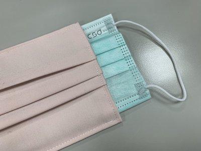 粉色 台灣製 布口罩套 口罩套 水洗口罩套 防疫升級  大人款 素色 現貨 成人口罩保護套 三折式 現貨 平面 厚布料