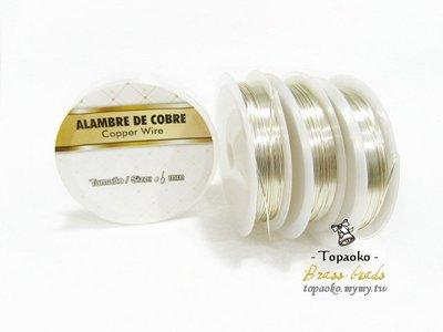 金屬線繞線配件 黃銅鍍保色銀線0.3/0.4/0.5/0.6/0.8/1mm一捆手工藝飾品DIY專用線《晶格格的多寶格》