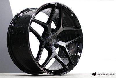 CR輪業 全新 美國 AG M650 20吋鋁圈 旋壓輕量化 黑底染黑透面 5/112 5/114 5/120