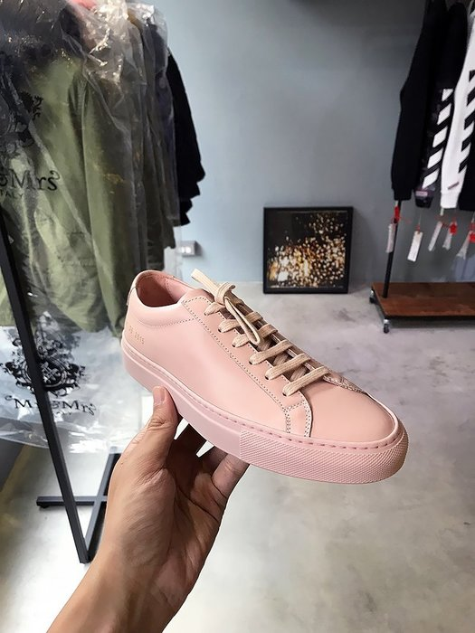 現貨【COMMON PROJECTS】18春夏 ORIGINAL ACHILLES皮革休閒鞋 女 粉紅 *45%OFF*