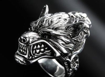 【創銀坊】龍狼傳說 925純銀 戒指 ...