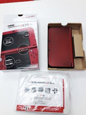 任天堂N3DSLL紅色 二手全機包膜,9.9極新$3500,不含筆