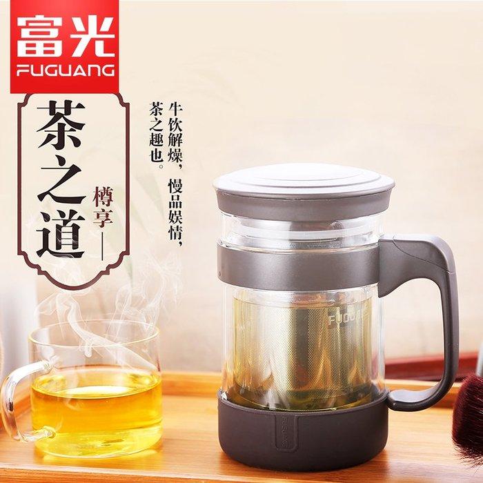 泡茶杯 過濾杯 玻璃杯 雙層辦公玻璃杯男女士帶蓋透明泡茶杯大容量便攜水杯創意杯子