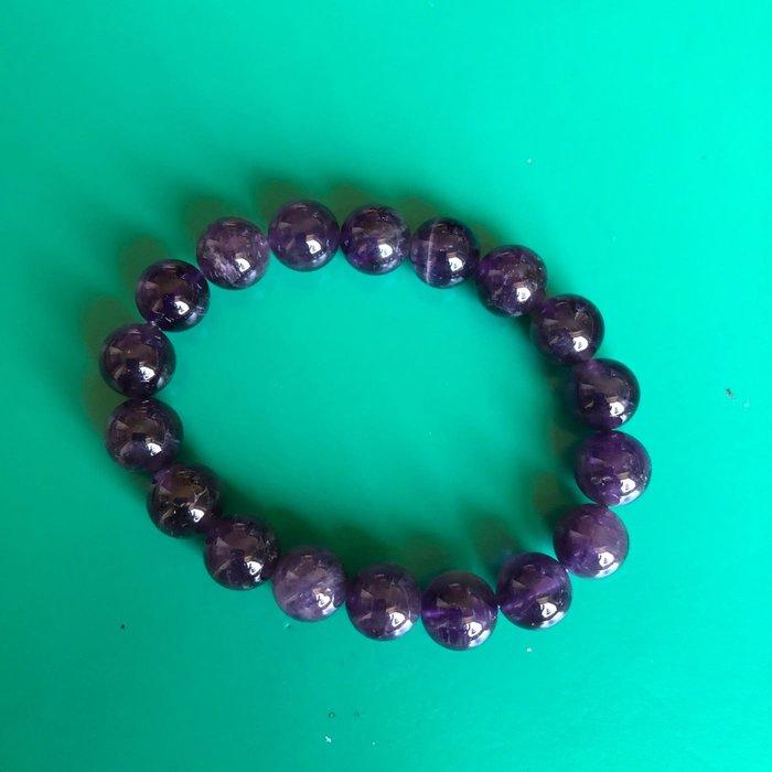 天然骨幹紫水晶10mm手串