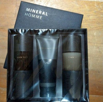A164 正品 韓國 The Seam 男士 護膚套組 Mineral HOMME Black Set