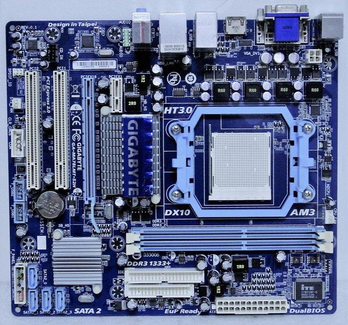 ~ 駿朋電腦 ~ 技嘉GA-MA78LMT-S2H / AM3 / DDR3 / 顯示 $600