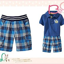 【B& G童裝】正品美國進口 OLD NAVY Jersey-Waist Plaid Shorts 藍色格子短褲2yrs