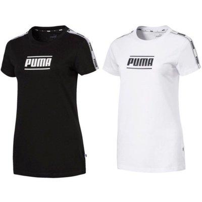 PUMA  女款休閒運動短袖 黑白兩色 84505901黑/84505902白