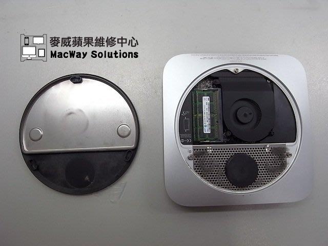 [台中 麥威蘋果] Mac mini/ mini Server維修 系統變慢 彩球轉不停 主機板電路維修
