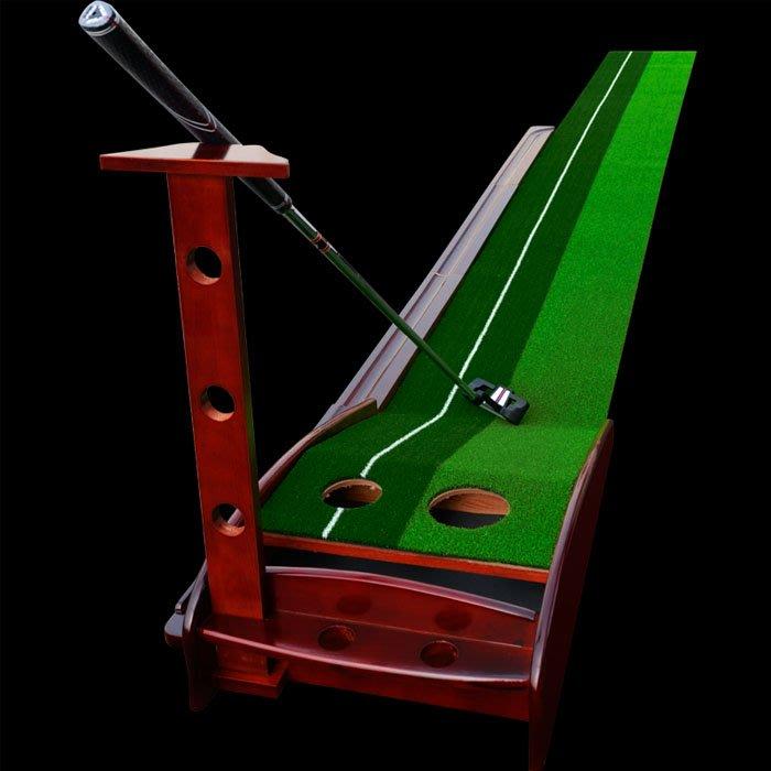 5Cgo【樂趣購】550046463568 新款時尚高爾夫球道推杆果嶺練習器墊辦公室內室外書房模擬訓練家用品迷你高爾夫練