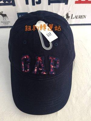 紐約轉運站 :美國現貨在台100%全新真品GAP貼布電繡男女棒球帽 運動休閒帽 老帽 深藍色