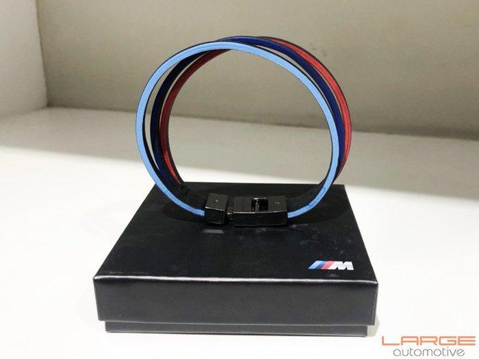 【樂駒】BMW 原廠 BMW ///M Unisex Leather 三線 手環 男士 中性 磁吸 扣環 飾品 禮品