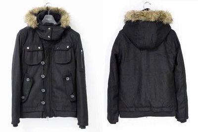 【日本精品】日本品牌suggestion 頂級N-2B連帽羊毛厚實鋪綿軍裝外套