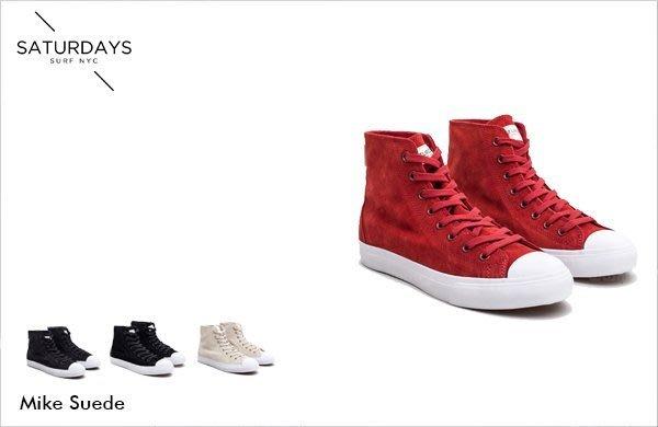 WaShiDa【1118】SATURDAYS NYC 美國品牌 Mike Suede 帆布 單色 休閒鞋 現貨 SALE