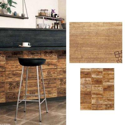 【夏法羅 窗藝】日本進口 仿建材 仿木頭 仿木頭箱 壁紙 AE-109386