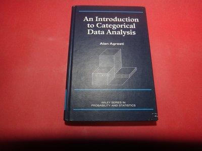 【愛悅二手書坊 02-25】An Introduction to Categorical Data Analysis