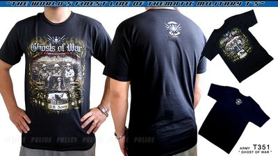 【ARMYGO】美國 7.62 軍事T恤 - 陸軍系列 -ARMY 'GHOSTS OF WAR'