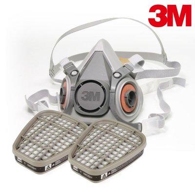 【醫碩科技】3M 6200防毒口罩大組 搭6001有機蒸氣濾罐附5N11濾棉10片及501濾蓋2個6200XL*6001