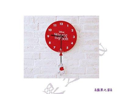 &蘋果之家&現貨-康是美-維尼系列氣球飛飛掛鐘