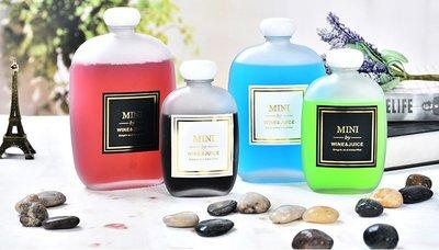 350ml  熱銷玻璃飲料瓶//乾花瓶//浮油花///扁圓形