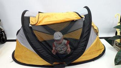 【紫貝殼*二手出售】美國Kidco PeaPod 嬰幼兒外出充氣遊戲睡床/氣墊帳篷/豪華睡袋(大)