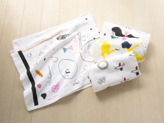 《散步生活雜貨》日本製 cozyca products x subikiawa 繪本風格 100%棉 紗布毛巾-四款選擇
