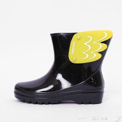 兒童雨靴兒童雨鞋女時尚防水春夏款防滑短筒雨靴幼兒園公主水鞋
