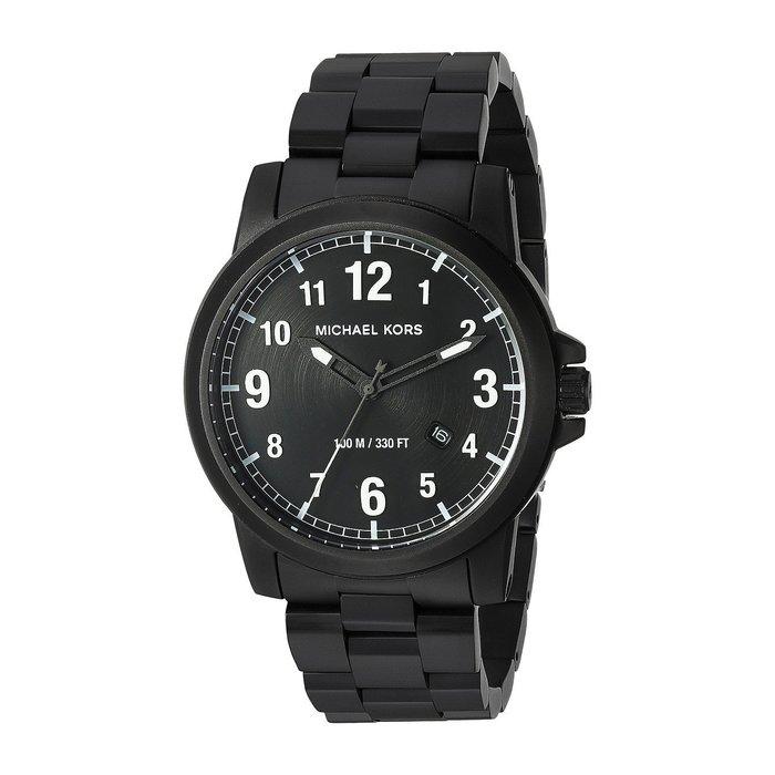 美國百分百【全新真品】Michael Kors 手錶 MK8532 配件 MK 精品錶 男錶 不鏽鋼 消光黑 I454