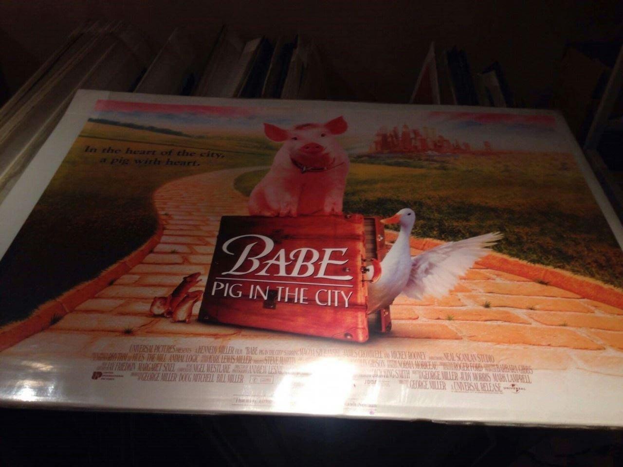 我很乖因為我要出國-Babe: Pig in the City (1998)原版英橫版海報