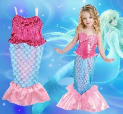 小美人魚美人魚服裝造型連衣裙洋裝--崴崴安