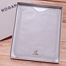 Auth and brand new Hogan grey leather iPad case