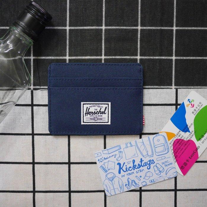 KS▸Herschel Charlie 深藍 海軍藍 橫式 卡夾 信用卡 悠遊卡 名片夾 證件套 五張【10045】