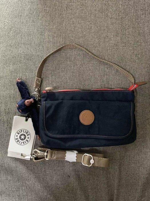 凱莉代購 Kipling 猴子包 K23431 深藍拼 輕便旅行夾層斜背包/側背/肩背 長短背帶 出遊 旅行 防水 預購