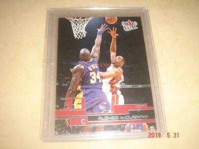 美國職籃 NBA Heat Alonzo Mourning 2002-2003 Fleer Ultra  球員卡