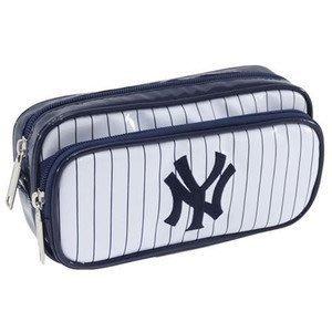 GIFT41 4165本通 新莊店 紐約 洋基 棒球 雙拉鍊 收納包/萬用包 白 4943777227569