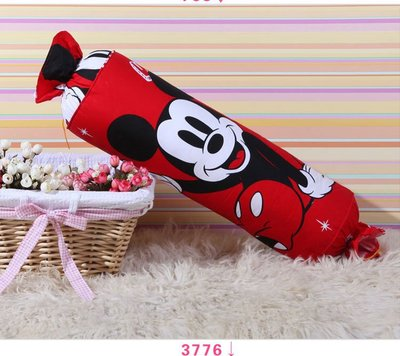 11款 紅色 迪士尼 糖果枕 米奇 卡通抱枕 全棉靠枕~Mickey 20~60CM