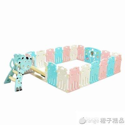 泡泡虎寶寶游戲圍欄兒童安全柵欄家用學步嬰兒圍擋室內玩具防護欄QM