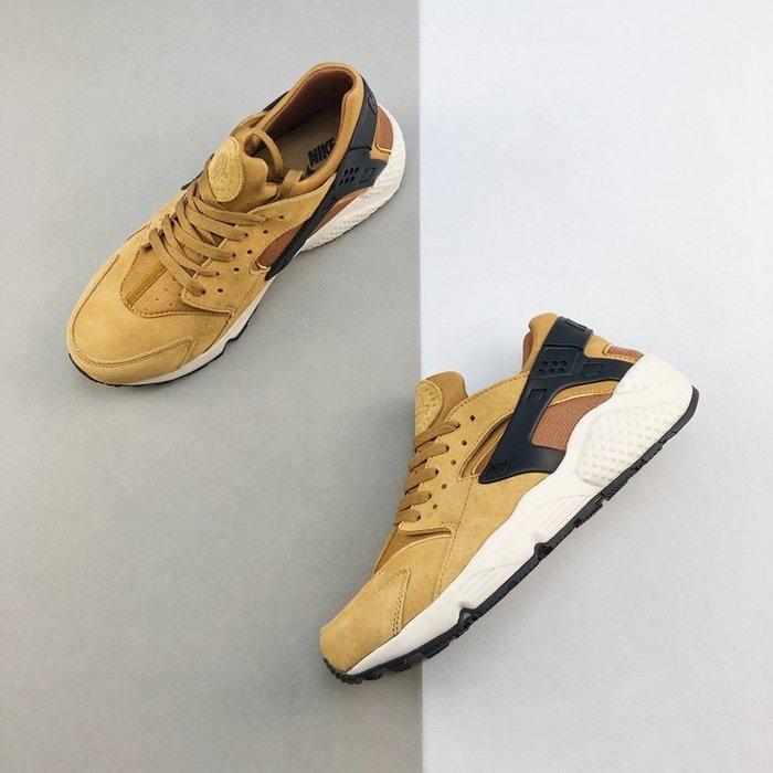 Nike Air Huarache Run PRM 麂皮 土黃 休閒鞋 武士鞋 男鞋704830-700