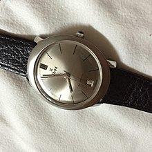 Rare vintage antique Edox automatic date oval watch依度士古董錶特色蛋形舊裝logo字體 近直版