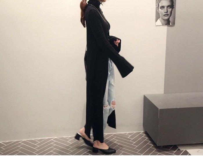 *KR Garden* 韓國連線 n9寬袖造型超長版針織外套 現貨