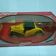 全新絕版- Solido 9502 Coca Cola Die Cast 1934 Ford Roadster 黃色可口可樂車 1:19 法國製