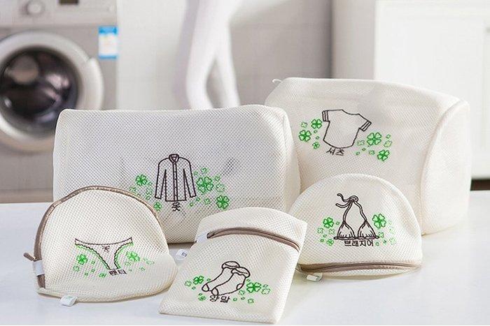 【自在坊】細網洗衣袋 韓式加厚三明治雙層 洗衣機 精緻衣物 襪子 內褲護洗袋