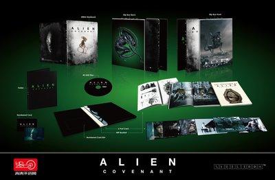 毛毛小舖--藍光BD 異形:聖約 4K UHD 幻彩盒限量鐵盒版(中文字幕) Alien : Covenant