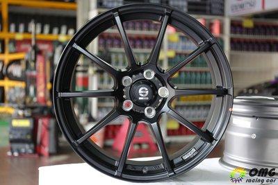 +OMG車坊+義大利SPARCO鋁圈 OZ製造 SJ01 18吋 5X112 8J ET48 消光黑 GTI GOLF
