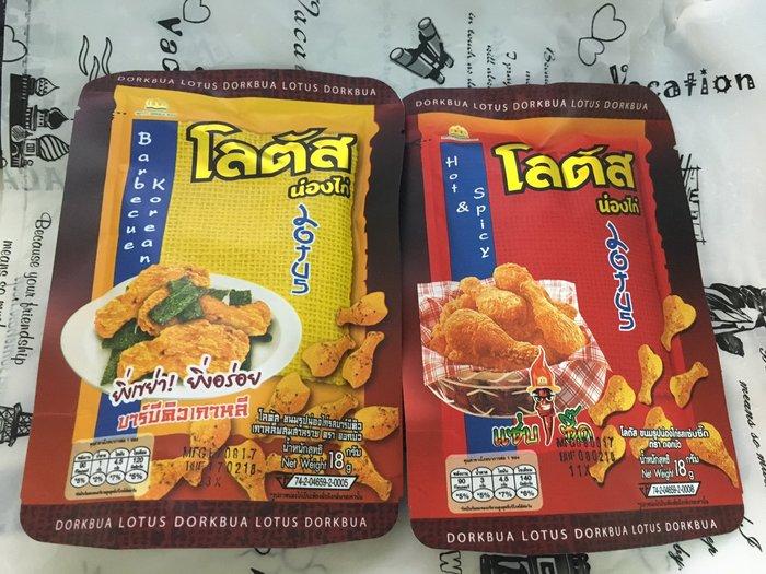 泰國 Dorkbua 雞腿餅乾 雞塊餅乾 18g 團購夯物 下酒菜 夯 韓式燒烤 辣味