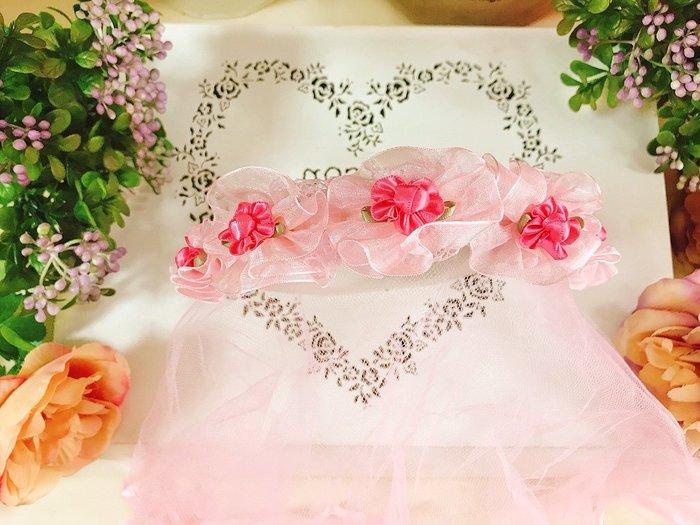 【華蕊】* C 款圓滿小花髮箍頭紗 * 髮圈 小花童 公主頭紗 甜美 可愛 蕾絲 花環