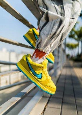 Nike Grateful Dead x Dunk SB Opti Yellow 黃色 CJ5378-700